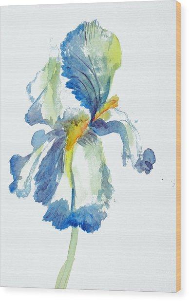 Iris Wood Print by Tina Storey