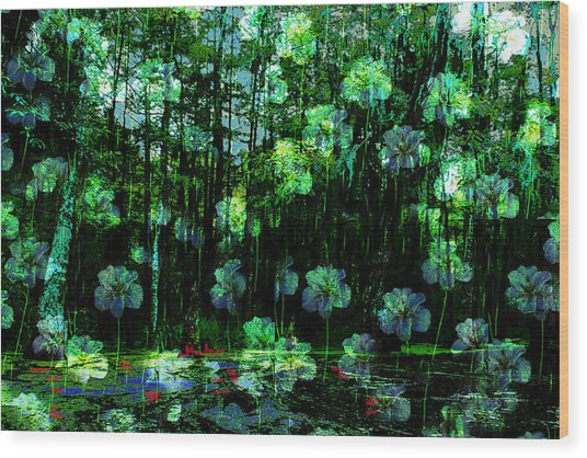 Irises Falling From A Southern Sky  Wood Print