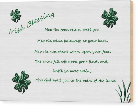 Irish Blessing 2 Wood Print