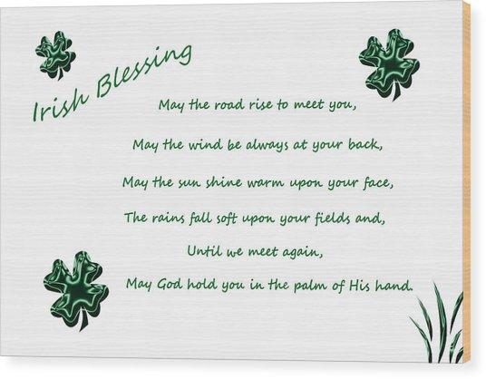 Irish Blessing 2 Wood Print