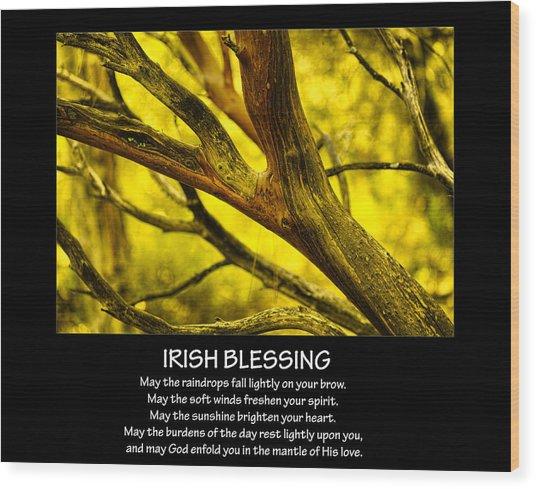 Irish Blessing Wood Print