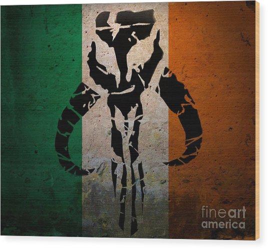 Irish Mandalorian Wood Print