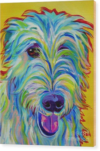 Irish Wolfhound - Angus Wood Print