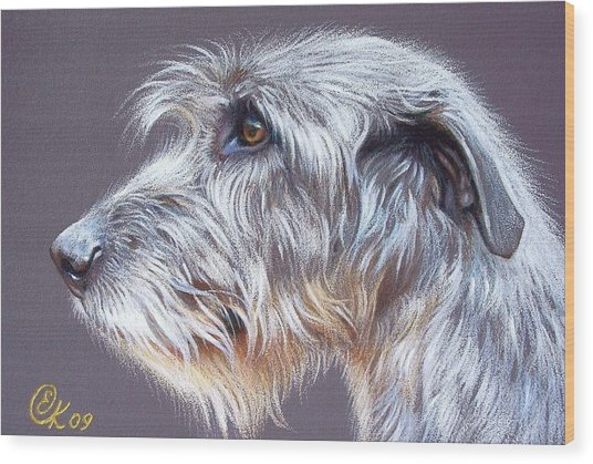 Irish Wolfhound  2 Wood Print