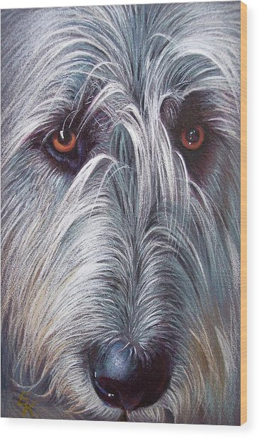 Irish Wolfhound Wood Print