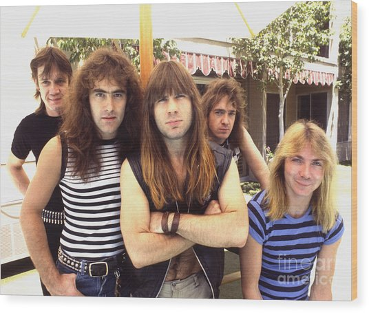 Iron Maiden 1983 Wood Print
