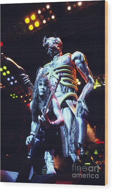Iron Maiden 1987 Steve Harris And Eddie Wood Print by Chris Walter