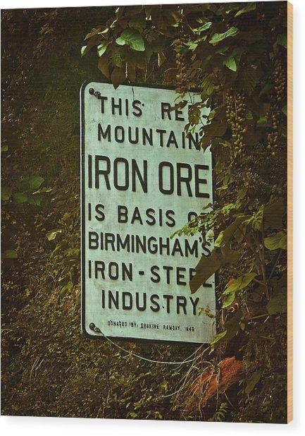 Iron Ore Seam Wood Print