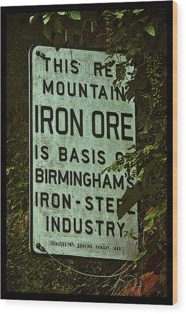 Iron Ore Seam Poster Wood Print