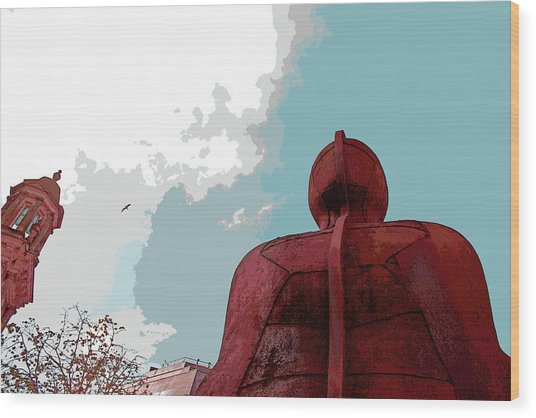 Ironman Wood Print