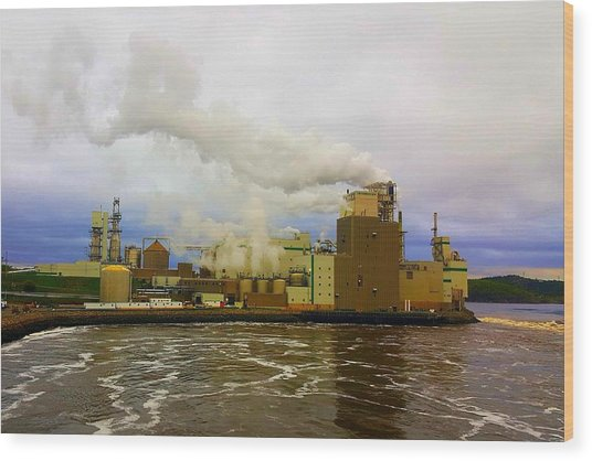 Irving Pulp Mill #3 Wood Print