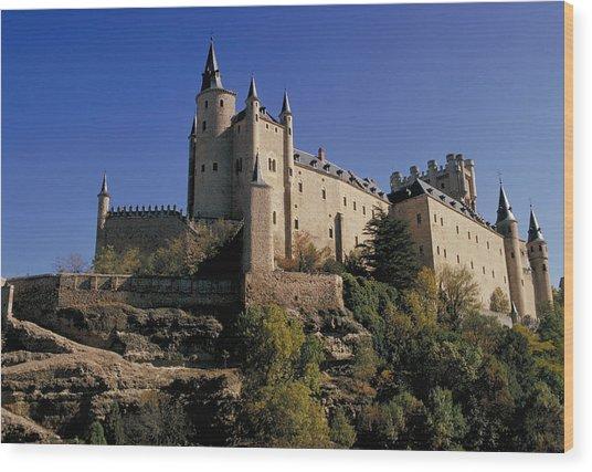 Isabella's Castle In Segovia Wood Print