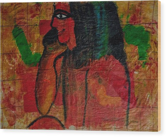 Isis, Egyption Queen Of Earth Wood Print