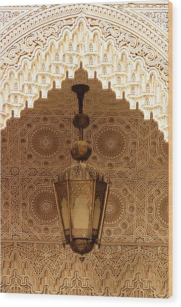 Islamic Plasterwork Wood Print