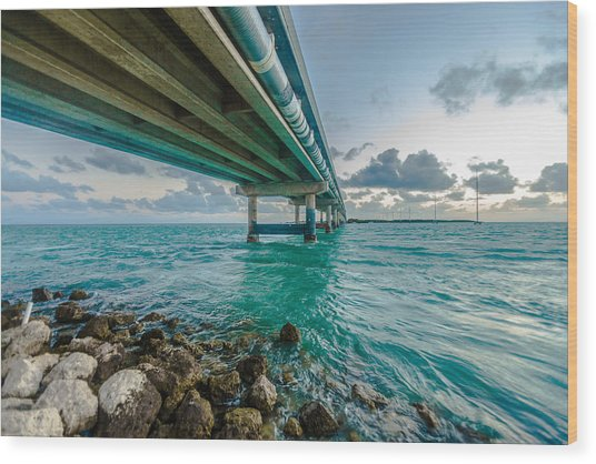 Islamorada Crossing Wood Print by Dan Vidal