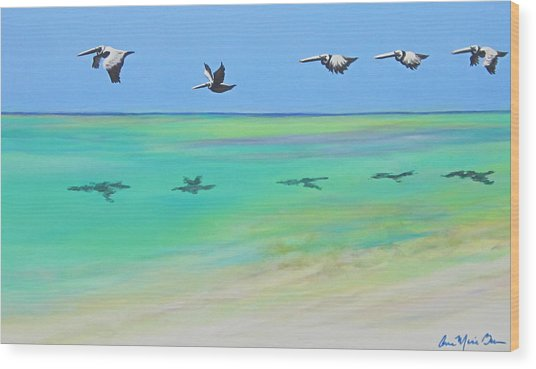 Islamorada Five Wood Print