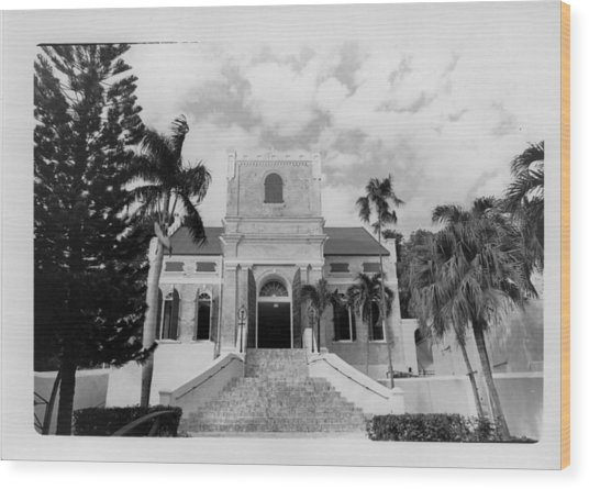 Island Church  Wood Print