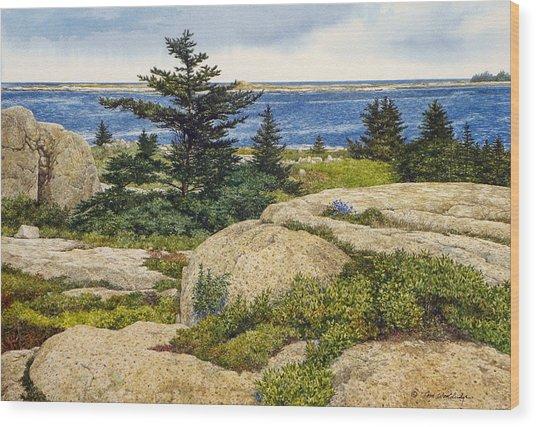 Island Harebells Wood Print
