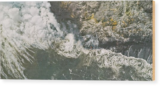 Island In The Making Wood Print by Peter J Sucy