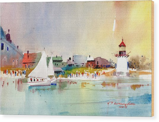 Island Light Wood Print