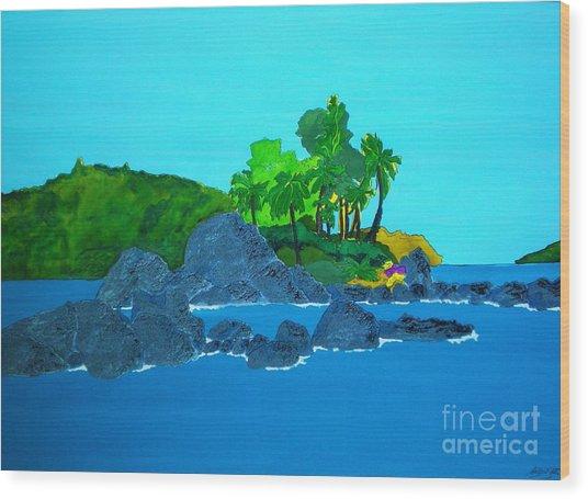 Island Wood Print by Michaela Bautz