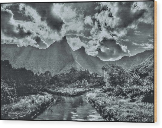 island Moorea Wood Print