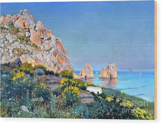 Island Of Capri - Gulf Of Naples Wood Print