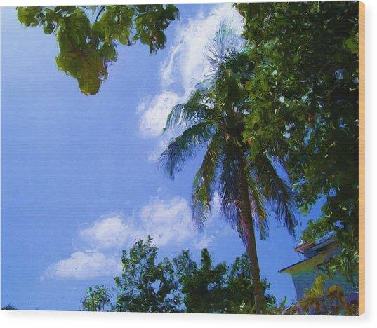 Island Palm Wood Print