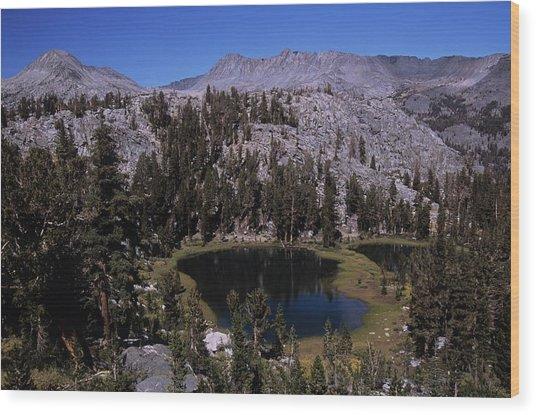 Island Pass Lake Wood Print