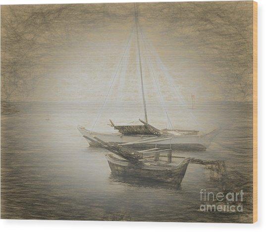 Island Sketches V Wood Print