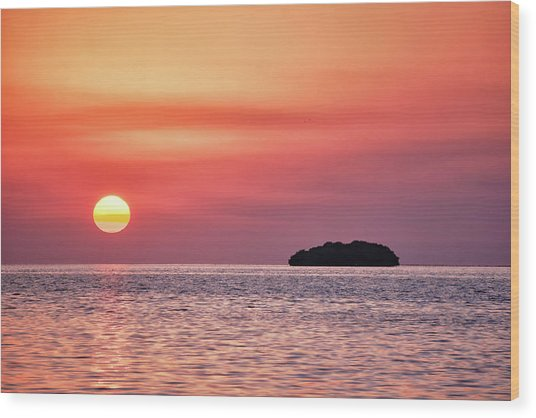 Island Sunset Wood Print