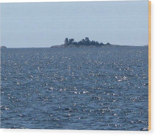 Islands At The Edge Of Georgian Bay  Wood Print