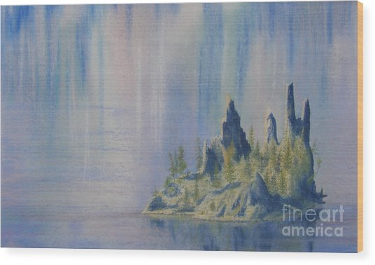 Isle Of Reflection Wood Print