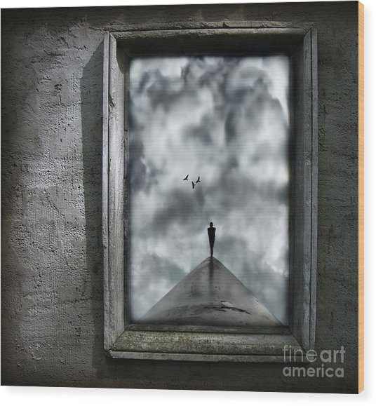 Isolation Wood Print
