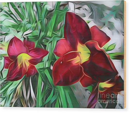 Wildflowers 06 ...52.16 Nature Flowers Images Wood Print