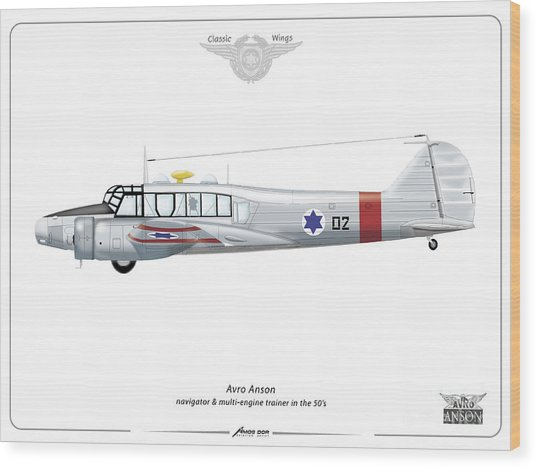 Israeli Aie Force Avro Anson #02 Wood Print