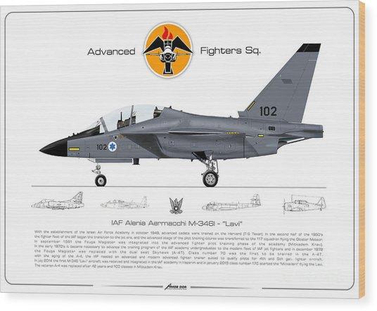 Israeli Air Force Advanced Fighters Sqd. M-346 Lavi  Wood Print