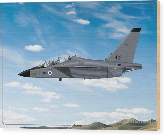 Israeli Air Force Airmacchi M-346i Master Lavi In Flight Wood Print