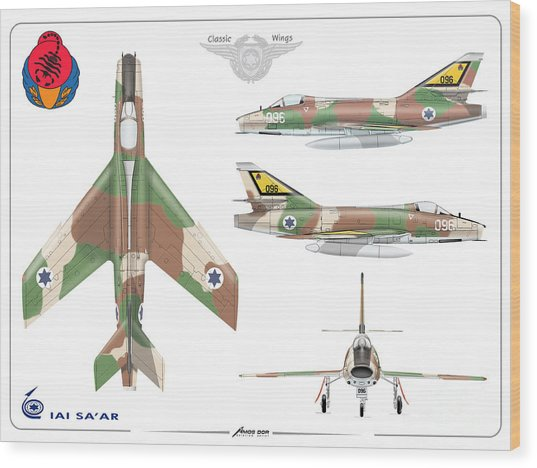 Israeli Air Force Iai Super Mystere Sa'ar Wood Print
