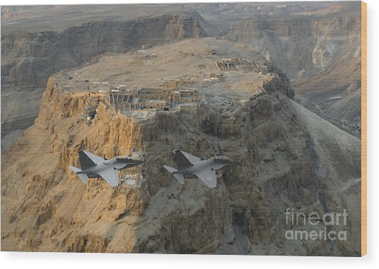 Israeli Air Force Lavi Over Massda  Wood Print
