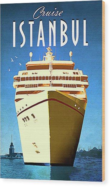 Istanbul Cruise, Turkey Wood Print