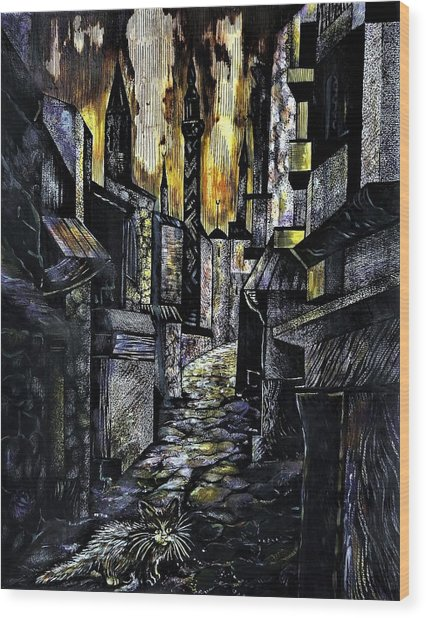 Istanbul Impressions. Lost In The City. Wood Print