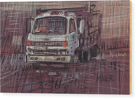 Isuzo Truck Wood Print by Donald Maier