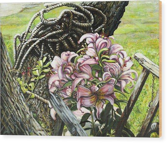 It A Jungle Wood Print by Leo Malboeuf