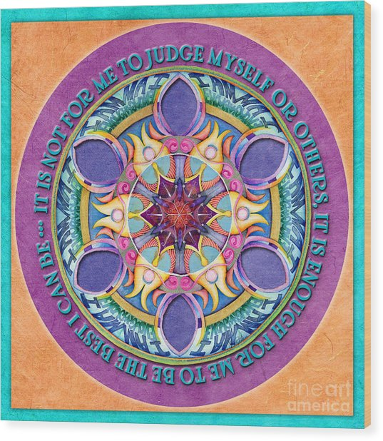 It Is Enough Mandala Prayer Wood Print