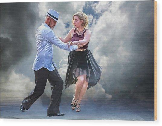 It Takes Two To Tango Wood Print by John Haldane