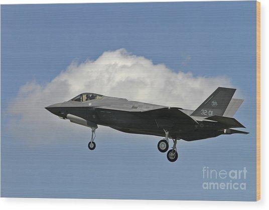 Italian Air Force F-35 Lightning II First Flight Wood Print