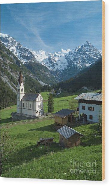 Italian Alps Hidden Treasure Wood Print