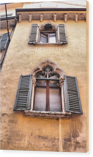 Italian Architecture Wood Print by Greg Sharpe