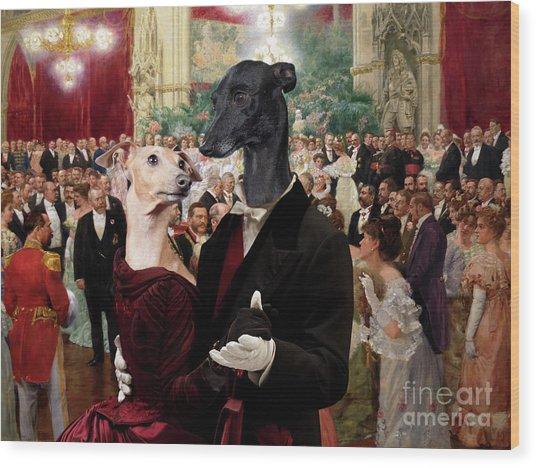 Italian Greyhound Art Canvas Print - Beautiful City Dance Hall Vienna Wilhelm Gause Wood Print